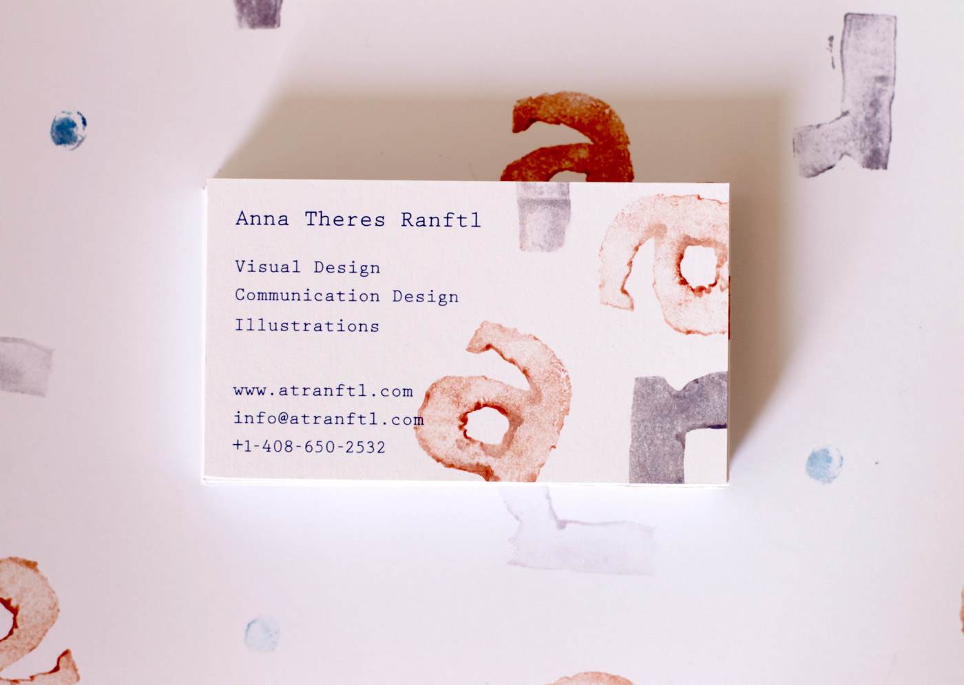 Self made business cards – Anna Theres Ranftl